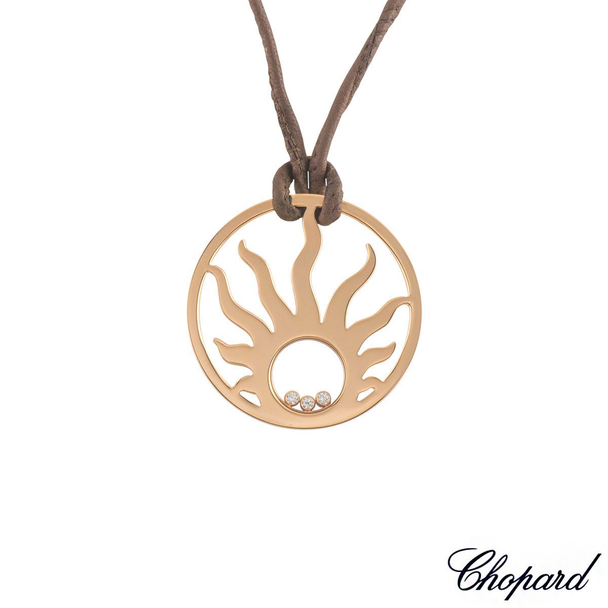 Chopard Rose Gold Happy Diamonds Pendant